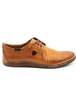 Skórzane buty męskie 343 rude Polbut wyprzedaż butyolivier - kod rabatowy