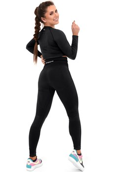 Legginsy Bezszwowe Microclima Black Push Up XS/S Boco Wear - kod rabatowy