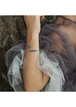 Bransoletka srebrna II - Szare pióra Venus Galeria Venus Galeria - Magiczny Ogród Bizuterii Srebrnej - kod rabatowy