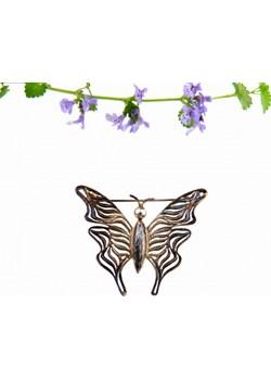 Broszka - Wesoły motyl brązowy Venus Galeria Venus Galeria - Magiczny Ogród Bizuterii Srebrnej - kod rabatowy