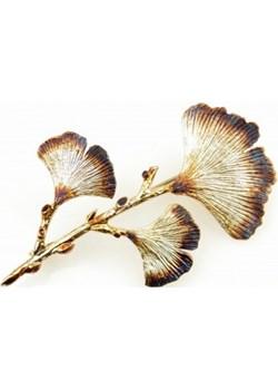 Broszka srebrna - Miłorzęby IV brąz Venus Galeria Venus Galeria - Magiczny Ogród Bizuterii Srebrnej - kod rabatowy
