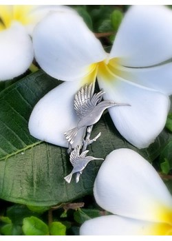 Broszka srebrna - Dwa kolibry na gałązce Venus Galeria Venus Galeria - Magiczny Ogród Bizuterii Srebrnej - kod rabatowy