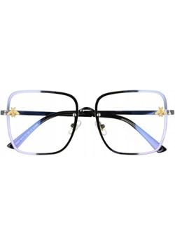 Okulary Kwadratowe z filtrem światła niebieskiego do komputera zerówki 2535-1 Stylion - kod rabatowy