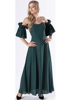 Elegancka sukienka maxi z gorsetową górą i ozdobnymi rękawkami z marszczeniem Kaja EVOSTYLE.pl - kod rabatowy