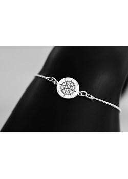 Bransoletka srebrna na łańcuszku Róża Wiatrów Le Ru Bijou  wyprzedaż   - kod rabatowy