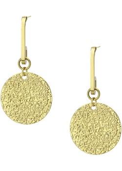 Pozłacane medaliony kolczyki ze stali szlachetnej Manoki manoki.pl - kod rabatowy
