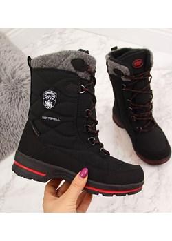 Śniegowce wodoodporne dziewczęce czarne American Club American Club okazja ButyRaj.pl - kod rabatowy
