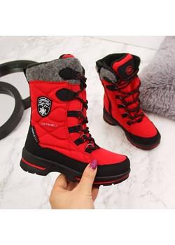Śniegowce wodoodporne dziewczęce czerwone American Club American Club okazja ButyRaj.pl - kod rabatowy