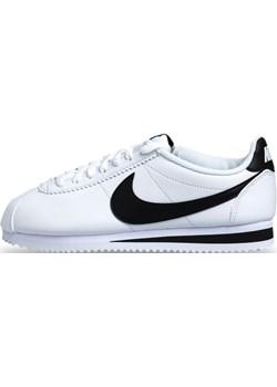 Sneakers buty damskie Nike Cortez Basic Leather white/black-white (807471-101)  Nike bludshop.com - kod rabatowy