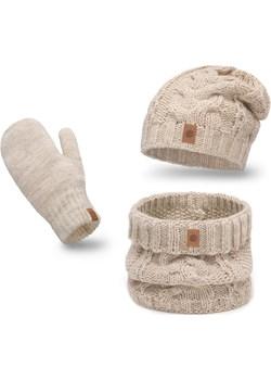 Ciepły zimowy komplet damski z rękawiczkami Pamami PaMaMi - kod rabatowy