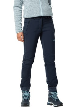 Damskie spodnie softshellowe ZENON SOFTSHELL PANTS WOMEN midnight blue Jack Wolfskin Jack Wolfskin - kod rabatowy