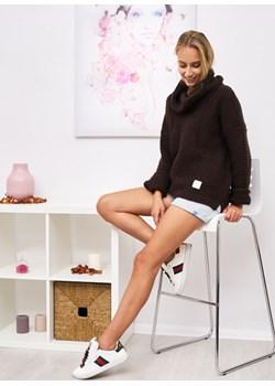 Sweter Mania Kolor Brąz OneSize Ligari Ligari - kod rabatowy