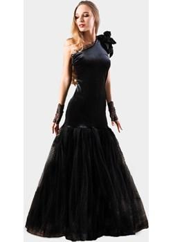 Welurowo tiulowa suknia wieczorowa - MIDNIGHT   My Image Art - kod rabatowy
