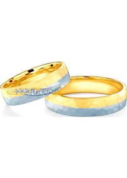 Obrączki ślubne: dwukolorowe złoto, półokrągłe, 5 mm Savicki okazja SAVICKI - kod rabatowy