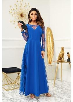 Sukienka Pamela chabrowa - długa z koronkowymi wstawkami Marconi MyLittleHeaven - kod rabatowy