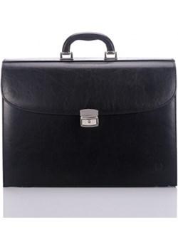 Czarna elegancka i stylowa teczka męska - paolo peruzzi Paolo Peruzzi GENTLE-MAN - kod rabatowy