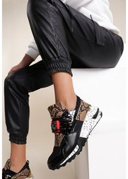 Czarne Sneakersy Coniferous Renee  renee.pl - kod rabatowy