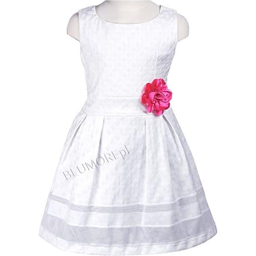 1b9f7f8f3e Piękna prosta biała sukienka dla dziewczynki 74 - 152 Tola blumore-pl bialy  Broszki ...