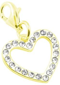 Srebrny Charms do bransoletek Serce z kryształkami Swarovski® - 24k złocenie Lian Art Lian Art - kod rabatowy