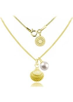Srebrny naszyjnik Marina z muszelką i perłą Swarovski® - 24k złocenie Lian Art Lian Art - kod rabatowy