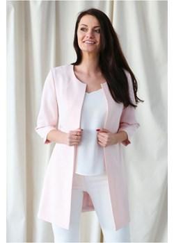 Marynarka Długa Jasno Różowa promocyjna cena butik-choice - kod rabatowy
