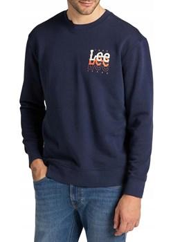 Bluza Lee Small Logo Crew Sws L81WEJ35 Navy Lee SMA Lee - kod rabatowy