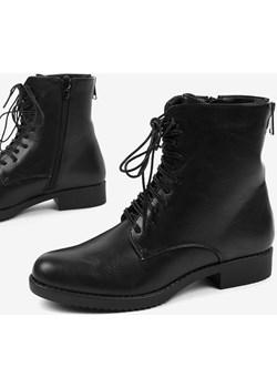Czarne damskie workery botki A8316 promocja gemre - kod rabatowy