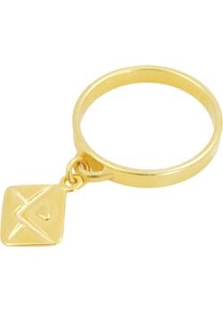 Złoty pierścionek z zawieszką LIST Perlove  Biżuteria-Perlove - kod rabatowy