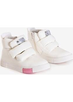 Białe dziecięce sneakersy Dama - Obuwie Royalfashion.pl royalfashion.pl - kod rabatowy