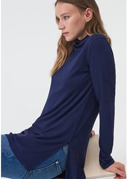 Sinsay - Prążkowana bluzka ze stójką - Sinsay Sinsay - kod rabatowy
