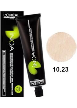 Loreal Inoa 10.23 | Bezamoniakowa trwała farba do włosów - kolor 10.23 bardzo bardzo jasny blond opalizująco-złocisty 60g Estyl.pl - kod rabatowy