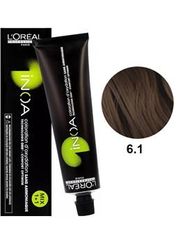 Loreal Inoa 6.1 | Bezamoniakowa trwała farba do włosów - kolor 6.1 ciemny blond popielaty 60g Estyl.pl - kod rabatowy