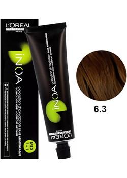 Loreal Inoa 6.3 | Bezamoniakowa trwała farba do włosów - kolor 6.3 ciemny złoty blond 60g Estyl.pl - kod rabatowy