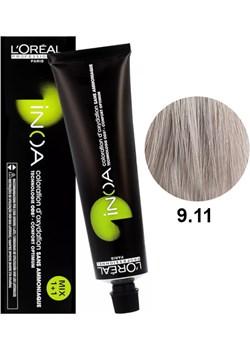 Loreal Inoa 9.11 | Bezamoniakowa trwała farba do włosów - kolor 9.11 bardzo jasny blond popielaty intensywny 60g Estyl.pl - kod rabatowy