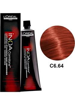 Loreal Inoa C6.64 | Bezamoniakowa trwała farba do włosów - kolor C6.64 ciemny blond mahoniowo-miedziany 60g Estyl.pl - kod rabatowy