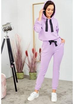 Bawełniany komplet z taśmą - liliowy Beewear - kod rabatowy