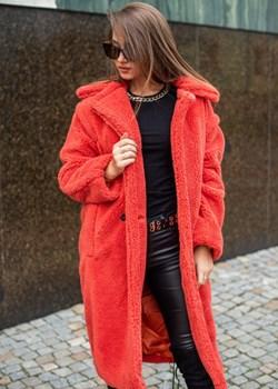 Płaszcz pluszowy pomarańczowy   Fason - kod rabatowy