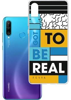 Etui amortyzujące uderzenia do Huawei P30 Lite, z unikatową grafiką 3D ferya GOT TO BE REAL Huawei 3mk - kod rabatowy