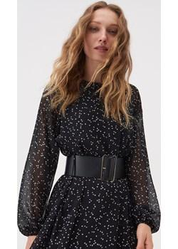 Sinsay - Sukienka midi z tkaniny mesh - Wielobarwny Sinsay Sinsay - kod rabatowy