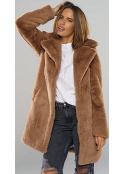 Płaszcz futrzany - dyplomatka bordo  Smoke Furs SMOKE - kod rabatowy