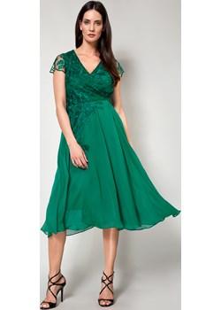Wizytowa sukienka z haftem MOLTON Molton promocyjna cena Molton - kod rabatowy