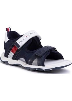 TOMMY HILFIGER Sandały Velcro Sandal T3B2-30739-0935 S Granatowy Tommy Hilfiger MODIVO wyprzedaż - kod rabatowy