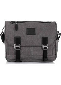 Męska torba na ramię listonoszka vintage 4555 czarna - john jones John Jones GENTLE-MAN - kod rabatowy