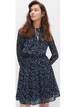 Reserved - Wzorzysta sukienka - Granatowy Reserved Reserved - kod rabatowy