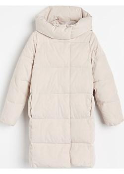 Reserved - Ocieplany płaszcz - Kremowy Reserved Reserved - kod rabatowy