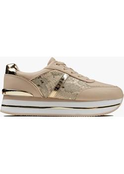 Buty sportowe damskie Guess Dafnee (FL7DFEPEL12-BLUSH) Guess okazja Sneaker Peeker - kod rabatowy