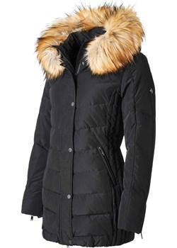 SAKI LAUREN - Czarna ciepła kurtka puchowa z kapturem i sztucznym kołnierzem odpinanym na suwak Saki okazyjna cena cordon.pl - kod rabatowy