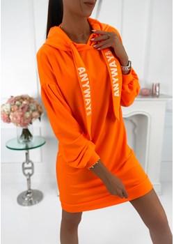 Sukienka neon - F951A orange neon Ifriko.pl ifriko.pl - kod rabatowy