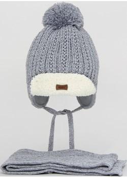 Czapka zimowa dla chłopca z szalikiem Tymon Agbo agbo.com.pl - kod rabatowy