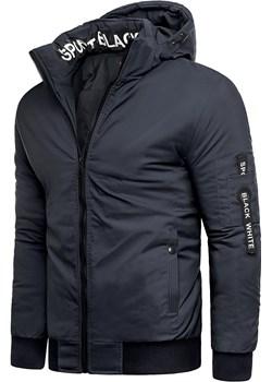 Męska kurtka zimowa T&M A18 - granatowa Risardi promocja Risardi - kod rabatowy